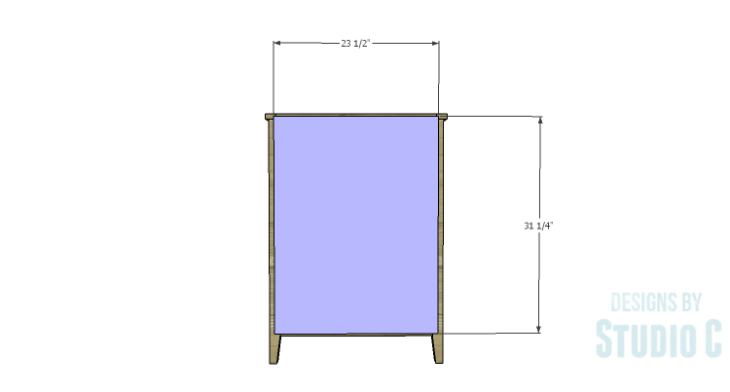 DIY Plans to Build a Tall Cabinet Base-Back