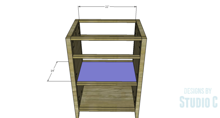 DIY Plans to Build a Tall Cabinet Base-Center Shelf