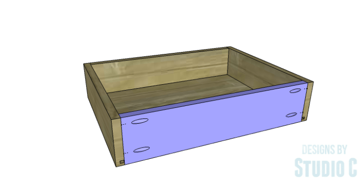 DIY Plans to Build a Tall Cabinet Base-Drawer 4