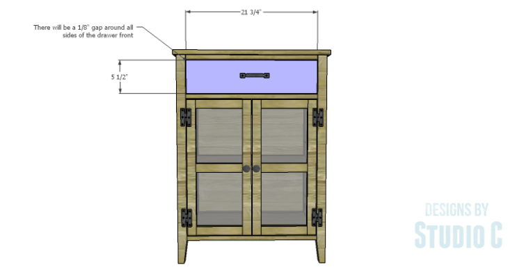 DIY Plans to Build a Tall Cabinet Base-Drawer Front