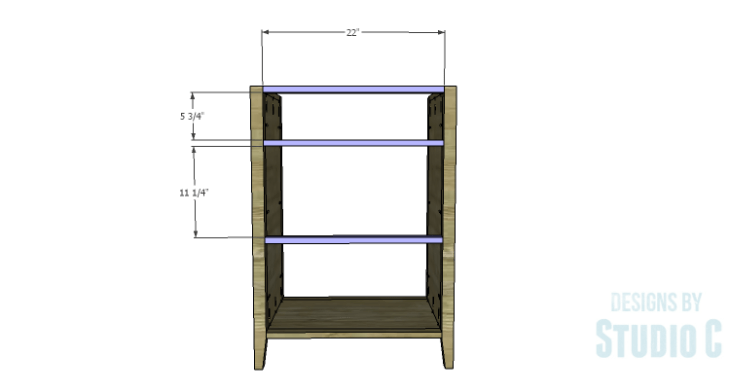 DIY Plans to Build a Tall Cabinet Base-Rear Stretchers