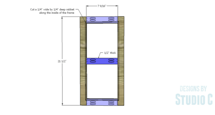 DIY Plans to Build a Tall Cabinet Hutch-Door 1