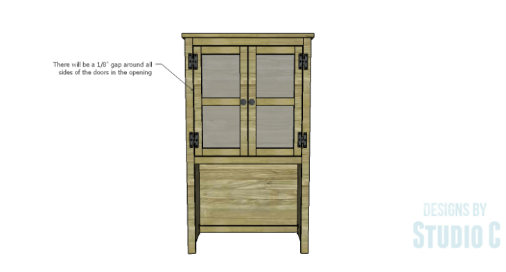 DIY Plans to Build a Tall Cabinet Hutch-Doors