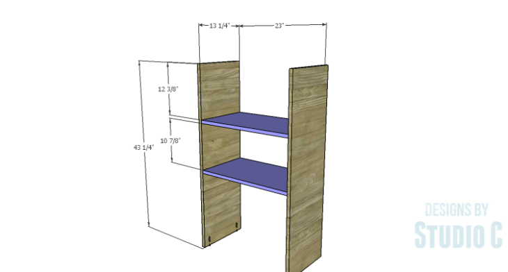 DIY Plans to Build a Tall Cabinet Hutch-Shelves & Sides