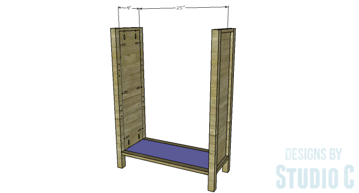 DIY Plans to Build an Ashwin Bookcase-Bottom