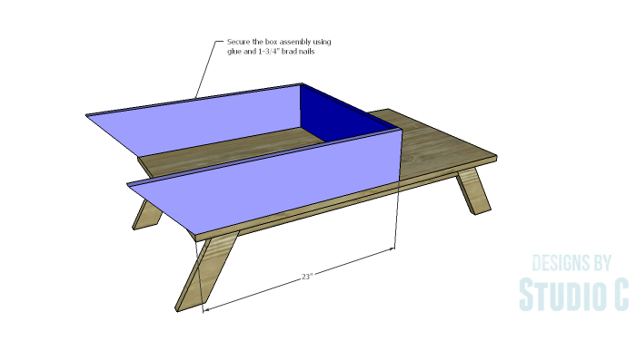 DIY Plans to Build a Brady Coffee Table-Box Assembly 2