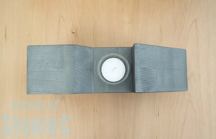 DIY Wood Arrow Candleholder-Top View