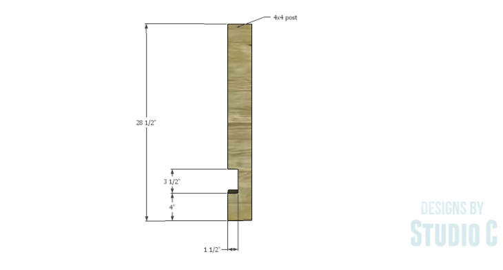 DIY Plans to Build an Easy Rustic Dining Table-Legs