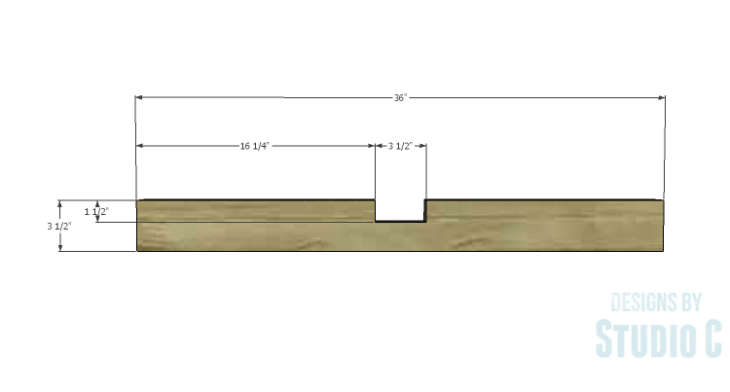 DIY Plans to Build an Easy Rustic Dining Table-Lower Side Stretchers 1