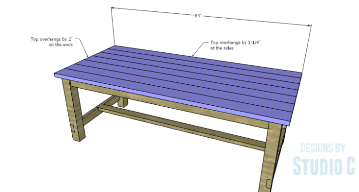 DIY Plans to Build an Easy Rustic Dining Table-Top