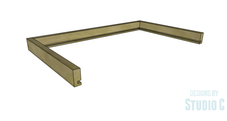 DIY Plans to Build an Open Shelf Desk-Center Drawer 2