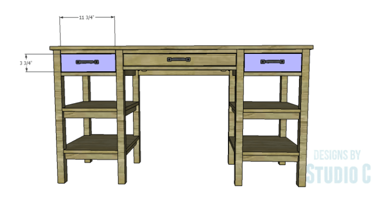 DIY Plans to Build an Open Shelf Desk-Drawer Fronts 2