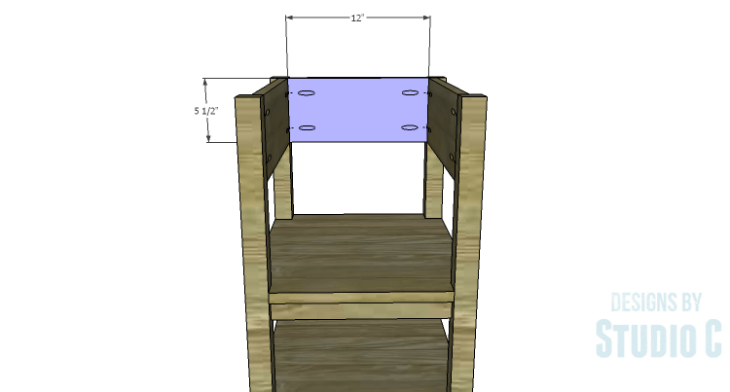 DIY Plans to Build an Open Shelf Desk-Outer Back