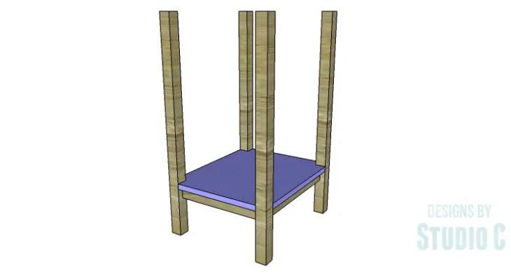 DIY Plans to Build an Open Shelf Desk-Outer Shelf 2