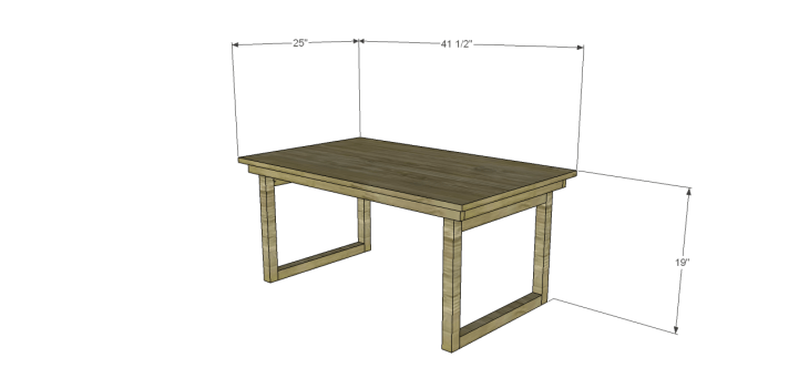 DIY Plans to Build a Fairhaven Coffee Table
