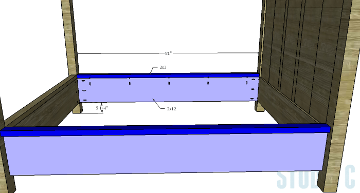 DIY Plans to Build a Waterton Queen Bed-Side Rails