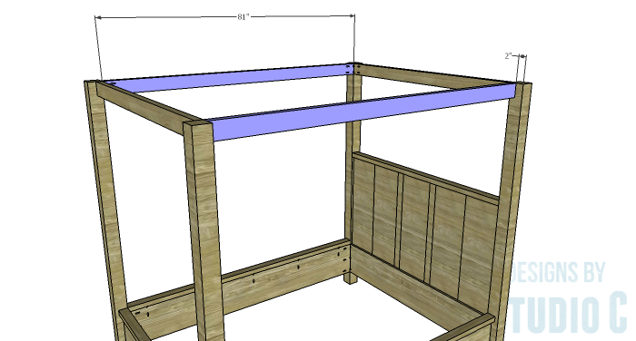 DIY Plans to Build a Waterton Queen Bed-Upper Canopy Stretchers