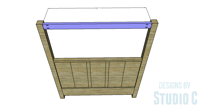 DIY Plans to Build a Waterton Queen Bed-Upper Headboard Canopy Stretchers