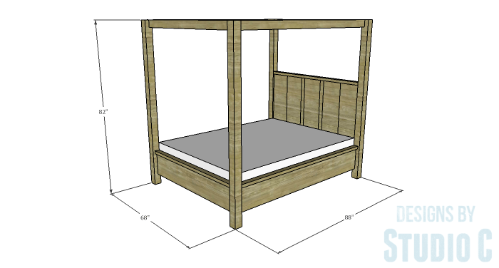 DIY Plans to Build a Waterton Queen Bed