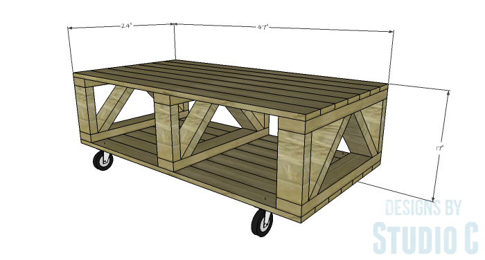 DIY Plans to Build a Westport Coffee Table