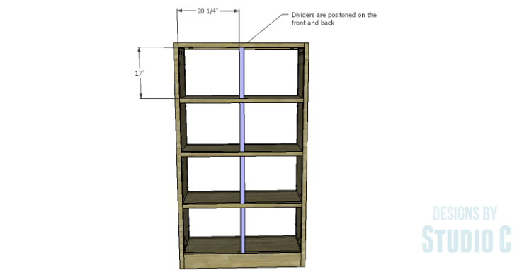 DIY Plans to Build a Woodruff Cabinet-Front & Back Dividers