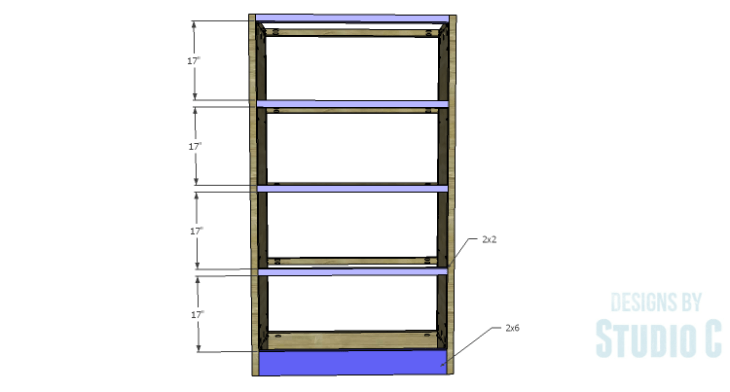 DIY Plans to Build a Woodruff Cabinet-Front Stretchers