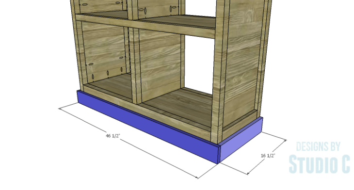DIY Plans to Build a Woodruff Cabinet-Lower Trim