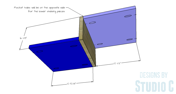 DIY Plans to Build a Geometric Bookshelf-Shelves 2