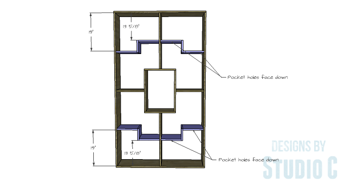 DIY Plans to Build a Geometric Bookshelf-Shelves 3