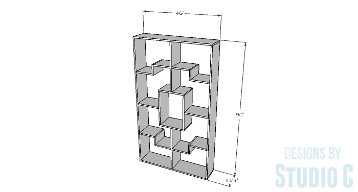 DIY Plans to Build a Geometric Bookshelf