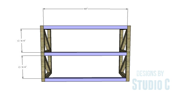 DIY Plans to Build a Grady Console Table-Stretchers 1