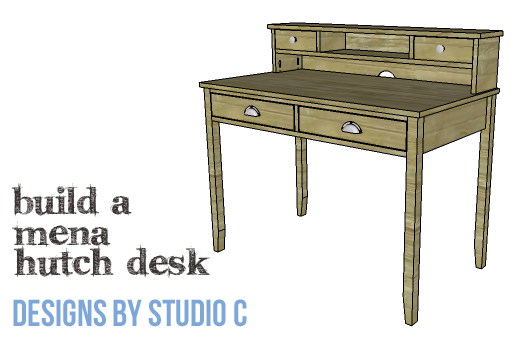 DIY Furniture Plans to Build a Mena Hutch Desk-Copy