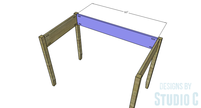 DIY Furniture Plans to Build a Mena Hutch Desk-Desk Back