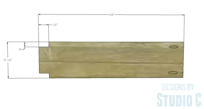 DIY Furniture Plans to Build a Mena Hutch Desk-Desk Divider 1