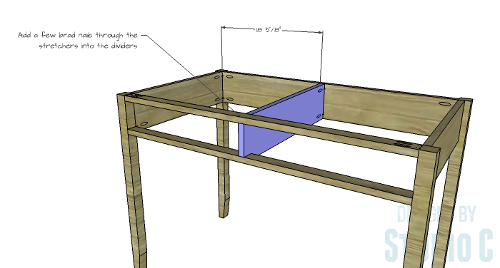 DIY Furniture Plans to Build a Mena Hutch Desk-Desk Divider 2