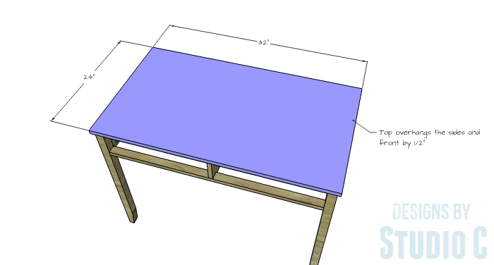DIY Furniture Plans to Build a Mena Hutch Desk-Desk Top