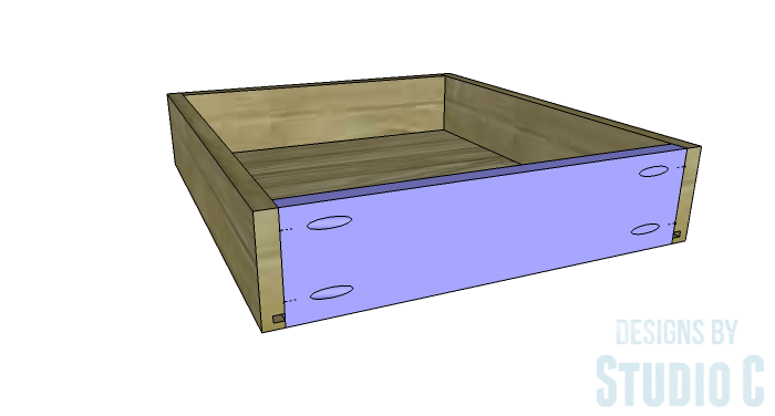 DIY Furniture Plans to Build a Mena Hutch Desk-Drawer 4