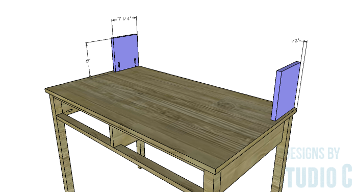 DIY Furniture Plans to Build a Mena Hutch Desk-Hutch Sides