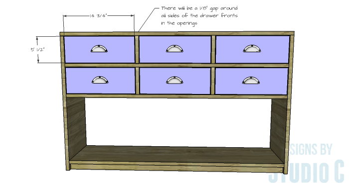DIY Plans to Build a Storage Console Table-Drawer Fronts