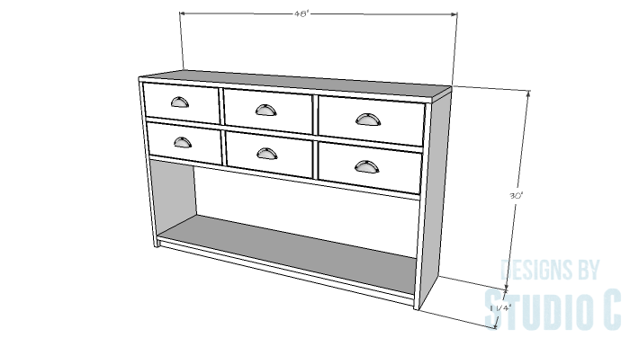DIY Plans to Build a Storage Console Table