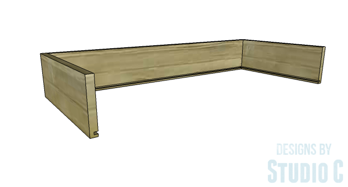 DIY Furniture Plans to Build a Tristan Media Stand-Center Drawer 2