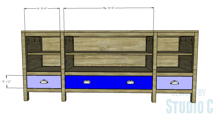 DIY Furniture Plans to Build a Tristan Media Stand-Drawer Fronts