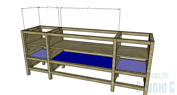 DIY Furniture Plans to Build a Tristan Media Stand-Middle Shelf