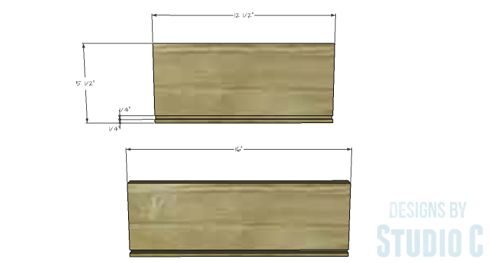 DIY Furniture Plans to Build a Tristan Media Stand-Side Drawer 1