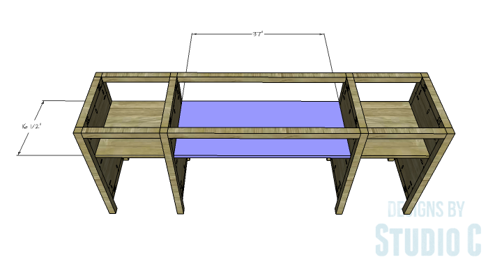 DIY Furniture Plans to Build a Tristan Media Stand-Upper Center Shelf