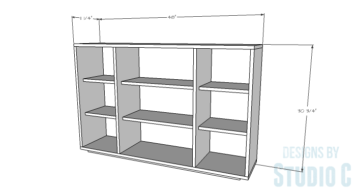DIY Furniture Plans to Build a Zen Bookcase Media Stand