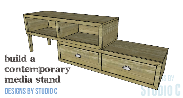 DIY Furniture Plans to Build a Contemporary Media Stand-Copy