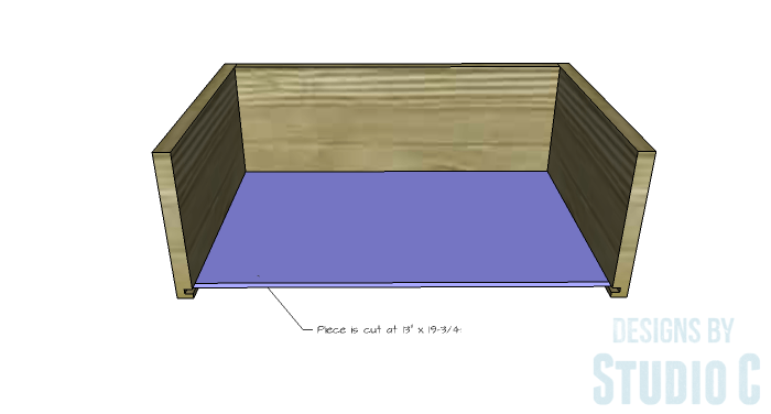 DIY Furniture Plans to Build a Contemporary Media Stand-Drawer 3
