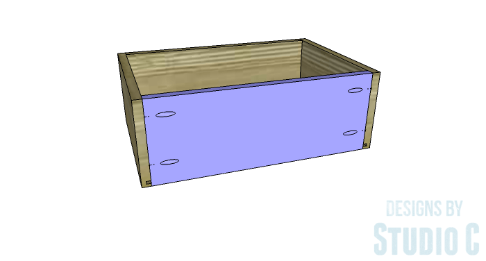 DIY Furniture Plans to Build a Contemporary Media Stand-Drawer 4
