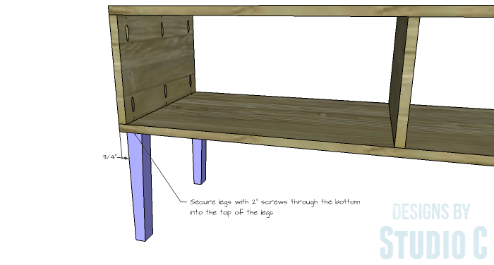 DIY Furniture Plans to Build a Contemporary Media Stand-Legs 2